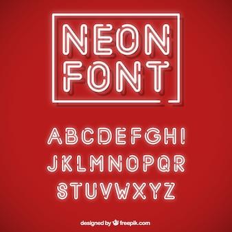 Alphabet mit Neonröhren