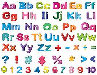 Alphabete und Zahlen