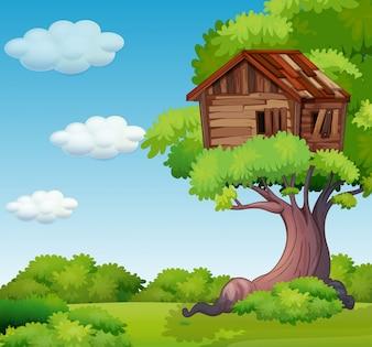 Altes Baumhaus auf dem Baum