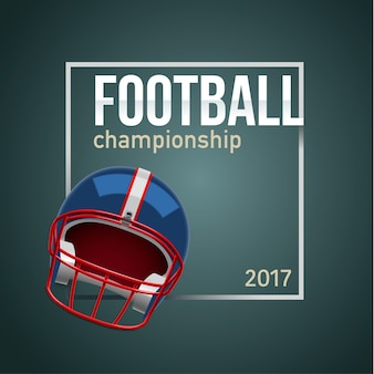 American Football Ball 3d realistischen Objekt Platz für Text backg