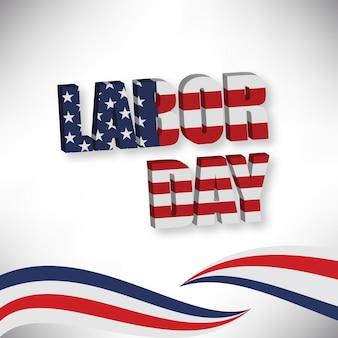 Amerikanische Flagge in LABOR-TAG eingraviert