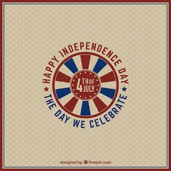 Amerikanische Unabhängigkeit glücklicher Retro-Hintergrund
