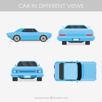 Amerikanisches Auto in verschiedenen Ansichten