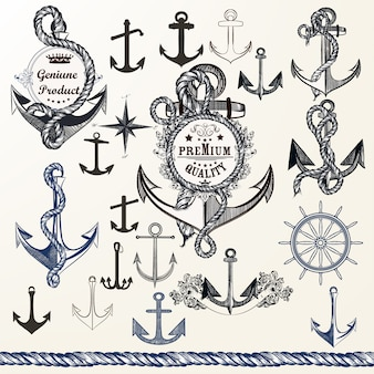 Anchore Entwürfe Sammlung