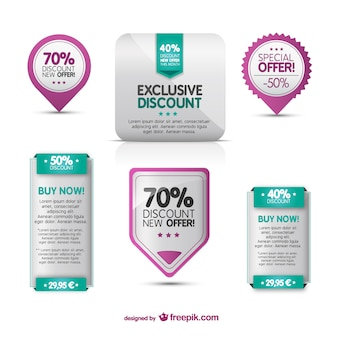 Angebot und Rabatt Web-Elemente