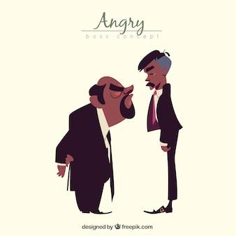 Angry Boss mit Arbeiter