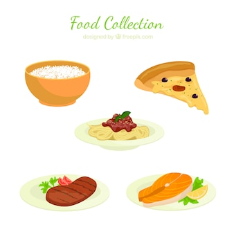 Ansprechende food collection