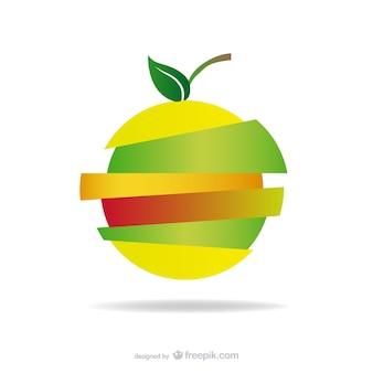 Apfel-Logo-Design geschnitten kostenloser Download