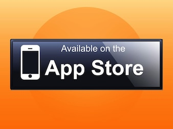 App Store iphone button vector