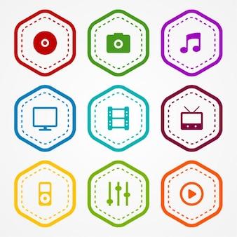 App-Symbole Abzeichen