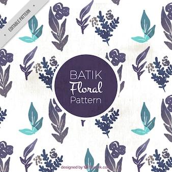 Aquarell Batik Blätter-Muster