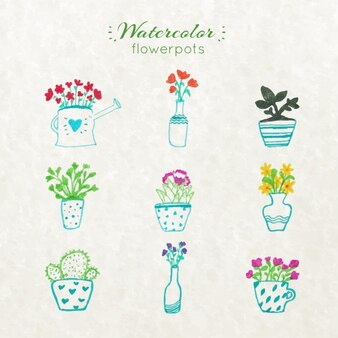 Blumentopfe vektoren fotos und psd dateien kostenloser for Schwarze blumentopfe