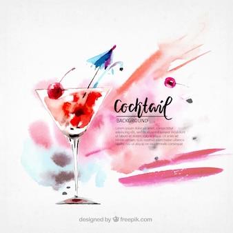 Aquarell-Cocktail-Hintergrund
