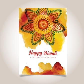 Aquarell Diwali Plakat
