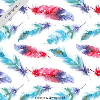 Aquarell Federn Hintergrund