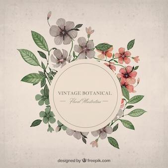 Aquarell floral frame