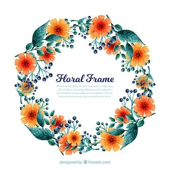 Aquarell floralen Rahmen mit künstlerischen Stil