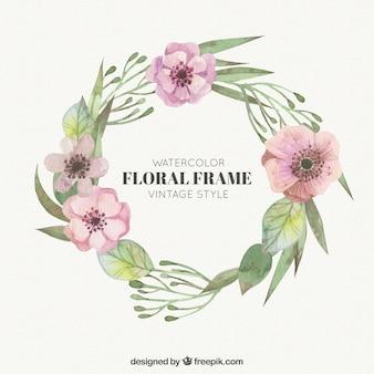 Aquarell floralen Rahmen