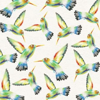Aquarell Hintergrund mit Kolibris