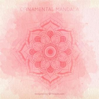Aquarell Hintergrund mit niedlichen Hand gezeichnet Mandala