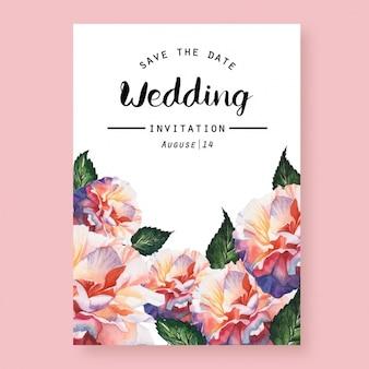 Aquarell-Hochzeitseinladung