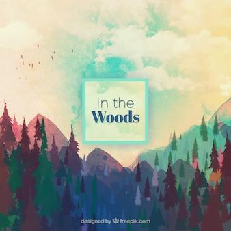Aquarell Holz Hintergrund
