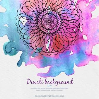 Aquarell Mandala Hintergrund