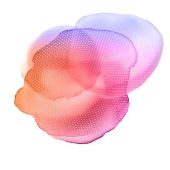 Aquarell Textur Hintergrund mit Halbton Punkte