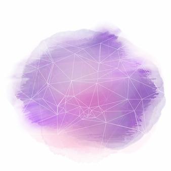 Aquarell Textur Hintergrund mit niedrigen Poly-Design