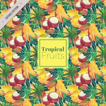 Aquarell tropischen Früchten Hintergrund