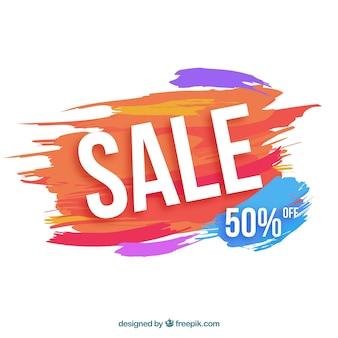 Aquarell Verkauf Hintergrund