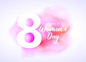 Aquarellkunst für Womans Tag Design