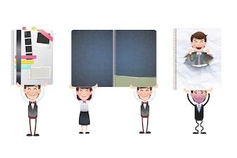 Arbeit Konzept Broschüre Vorlage Geschäft