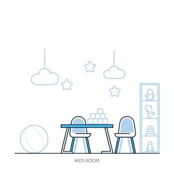 Arbeitsbereich flaches Design