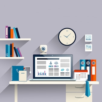 Arbeitsplatz Hintergrund mit Laptop