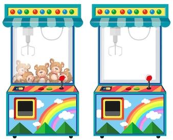 Arcade-Spielmaschine mit Puppen Illustration