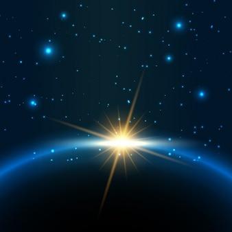 Aus dem Weltraum Hintergrund zu sehen
