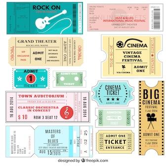 Auswahl an Tickets