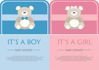 Baby-Dusche Einladungskarte