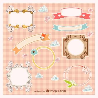 Baby-Rahmen und Banner-Vektor