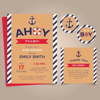 Babyparty mit Seethema-Einladung