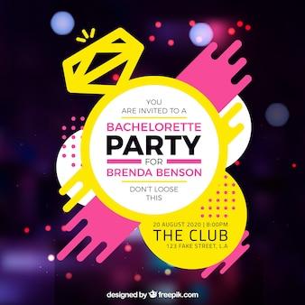 Bachelorette Partyvorlage mit hellen Farben