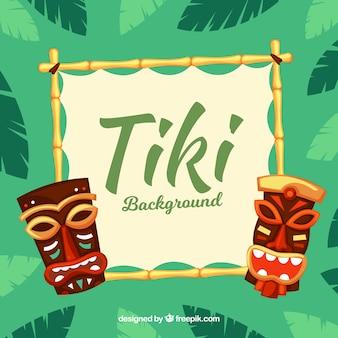 Bambusrahmen und Tiki Masken
