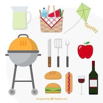 Barbecue Tag Elemente