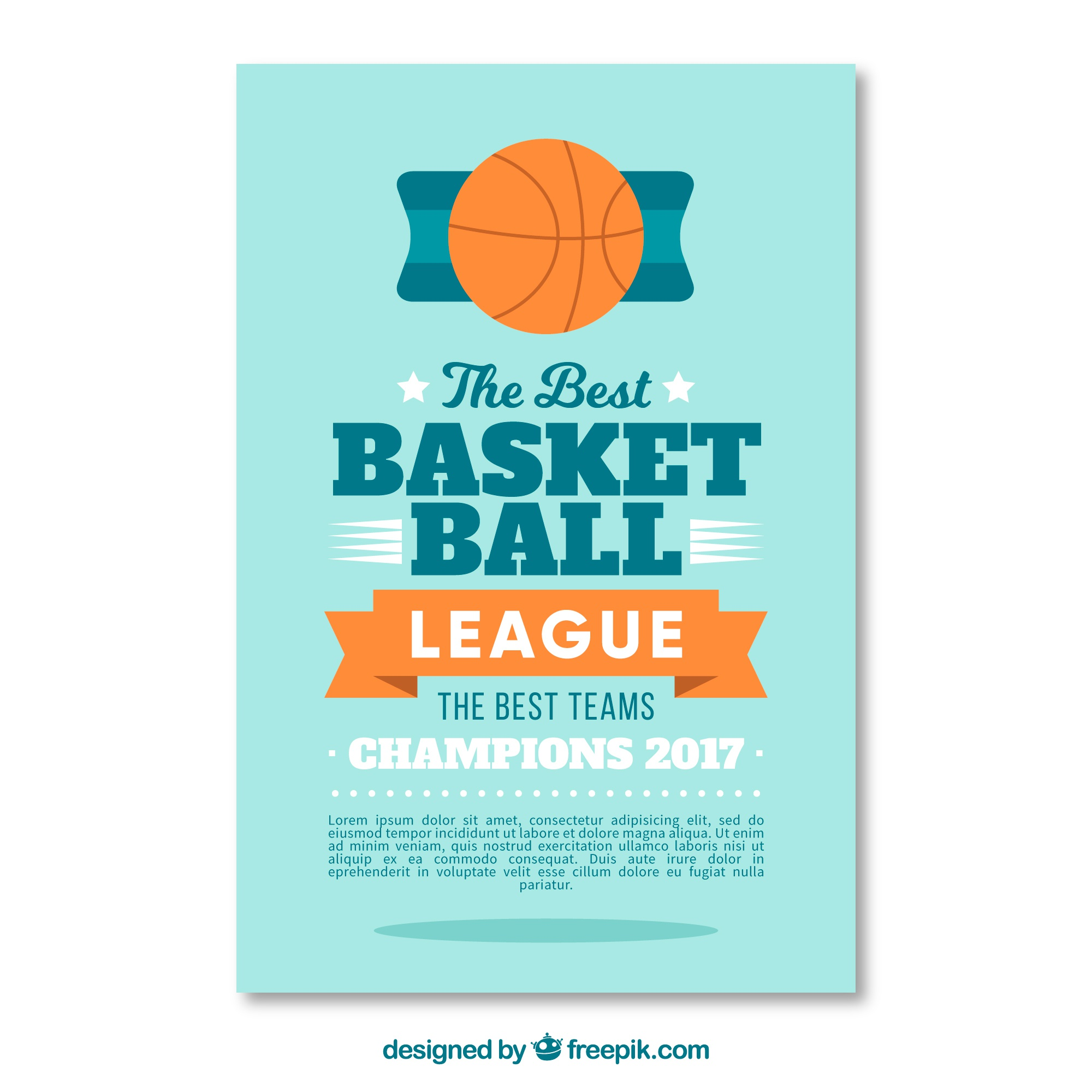 Basketball-Liga Flyer