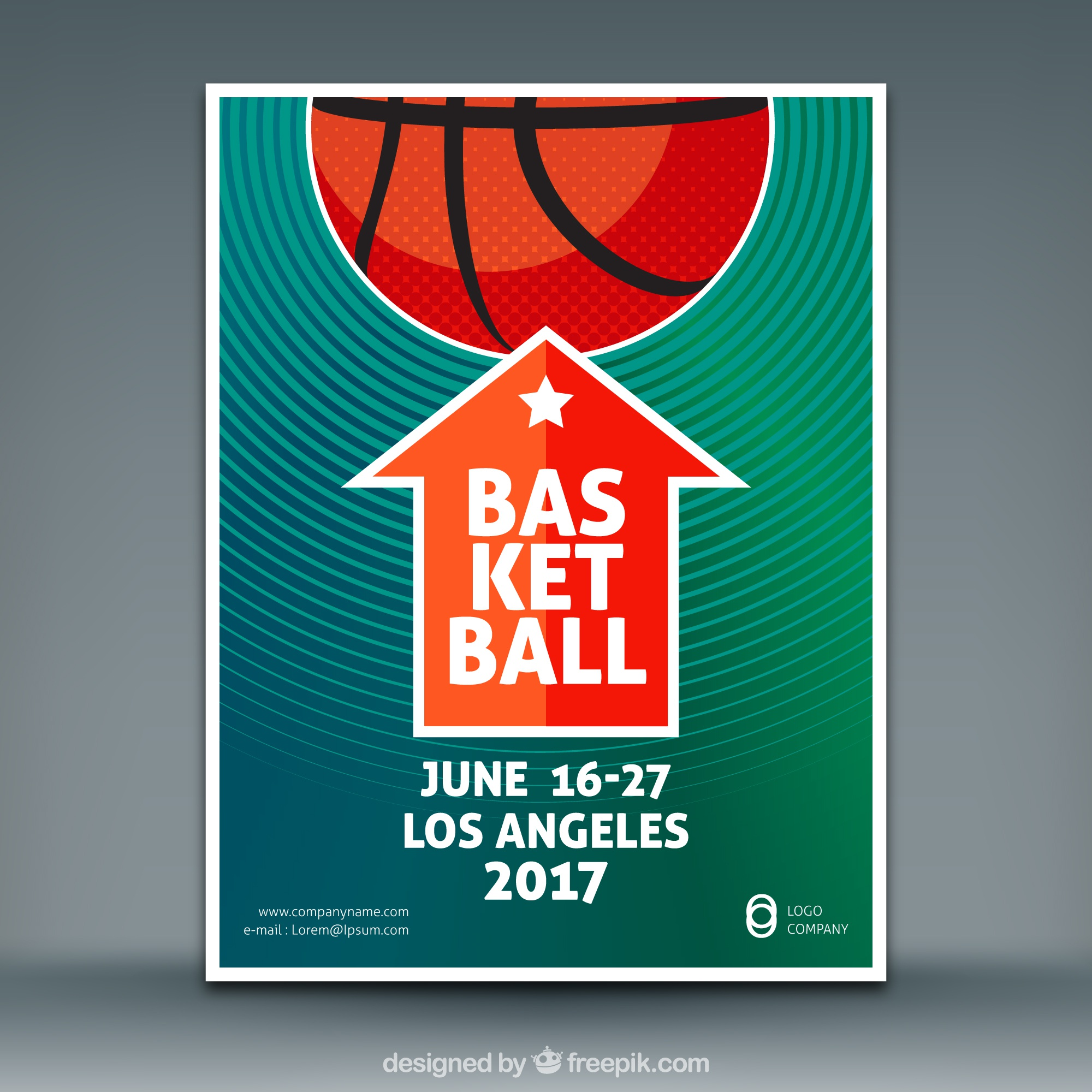 Basketball-Spiel Flyer