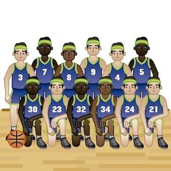 Basketball-Team Hintergrund