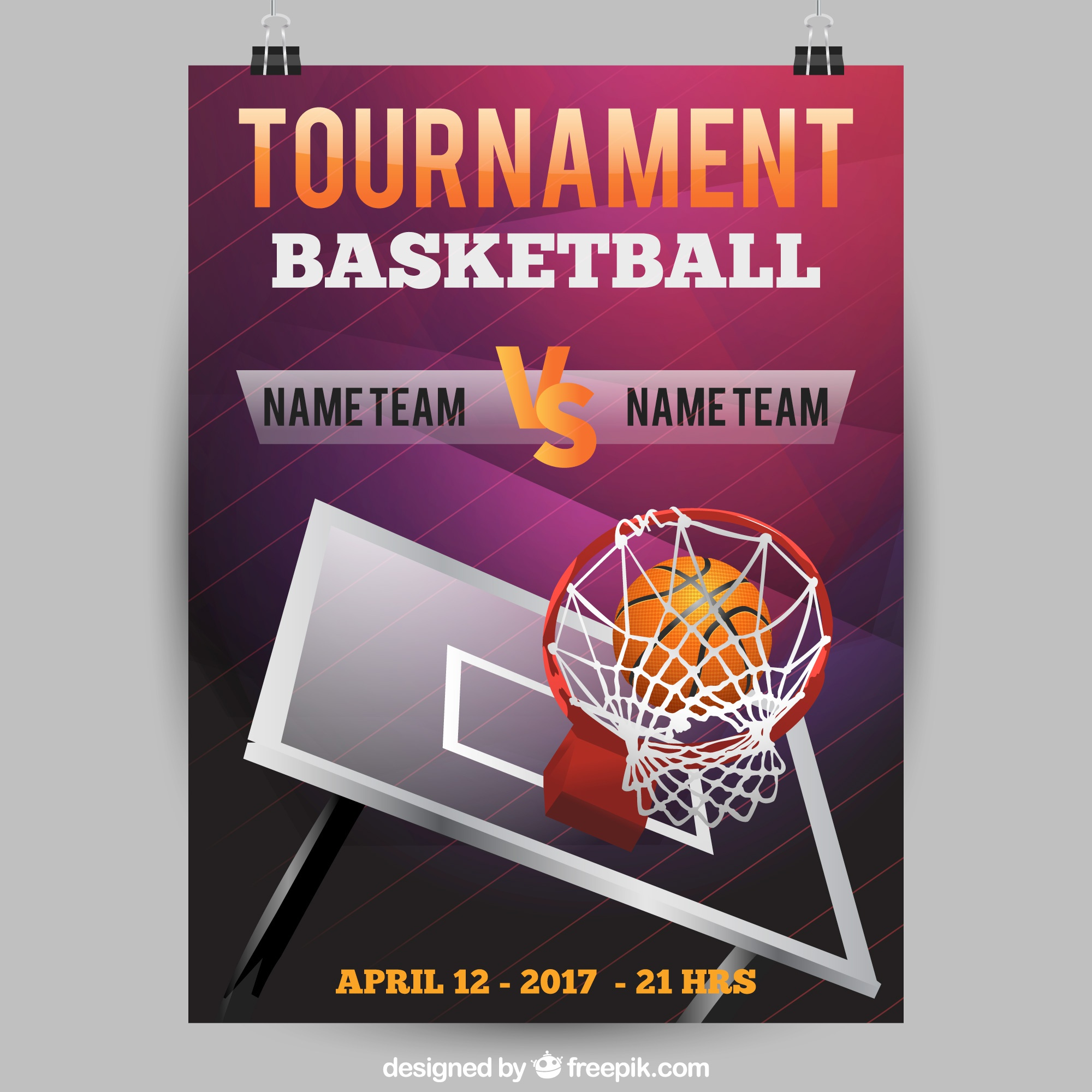 Basketball-Turnier Poster