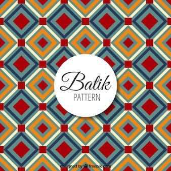 Batik-Muster mit geometrischen Formen