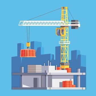 Bau eines Hauses oder eines Wolkenkratzers